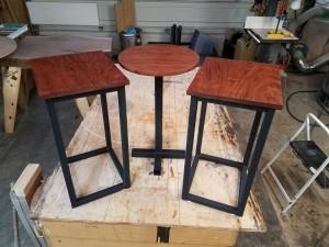 bubinga side table set