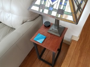 bubinga side table