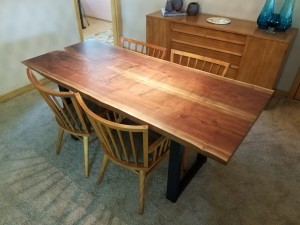 Walnut live edge dining table minneapolis