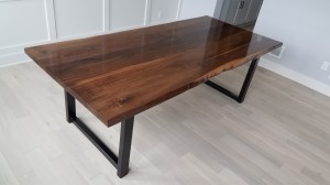 custom walnut dining table Minneapolis