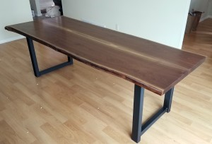 Custom Walnut Live Edge Dining Table Plymouth Mn-1