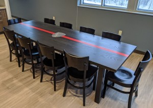 Ebony Custom Firehouse table Custom Dining Table Mn st. paul, minneapolis 3