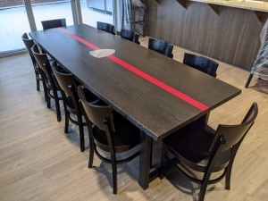 Ebony Custom Firehouse table Custom Dining Table Mn st. paul, minneapolis 4
