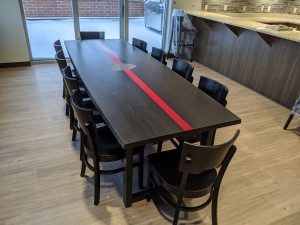 Ebony Custom Firehouse table Custom Dining Table Mn st. paul, minneapolis 5