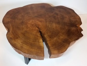 Live Edge Cookie slab top view