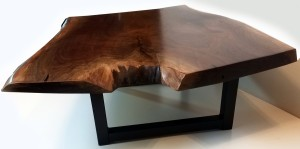 Live Edge Walnut Coffee table front view