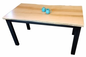 Maple Live Edge Dining Table (1)