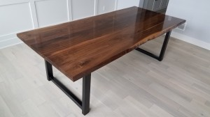 Walnut Faux Live Edge dining table Mn