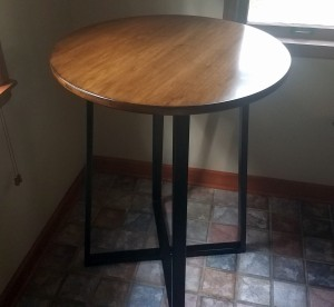 circle bar height breakfast nook table mn