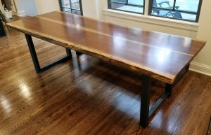 custom live edge walnut dining table edina mn