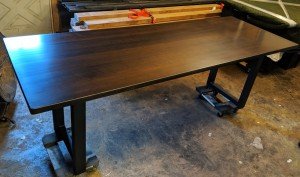 dark stained maple dining table minneapolis st. paul mn 2