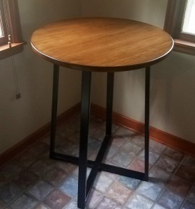maple breakfast nook circle table custom table minneapolis mn (1)