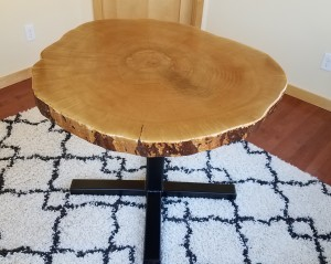 maple live edge cookie slab table