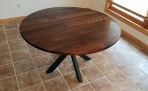walnut circle table x base