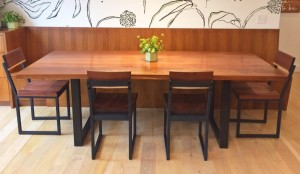 walnut dining table and chairs 3