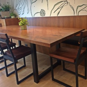 walnut dining table and chairs 4