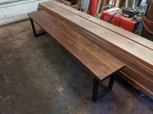 walnut dining table bench minneapolis st. paul mn custom bench