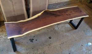 walnut live edge bench minneapolis and st. paul 2