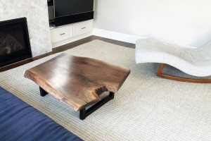 walnut live edge coffee table family room 3
