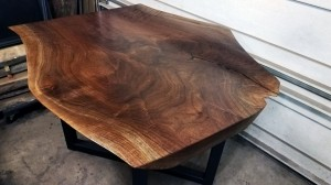 walnut live edge coffee table minneapolis