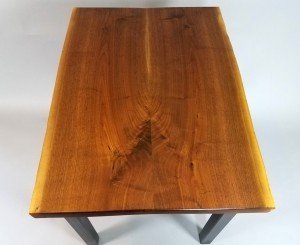 walnut live edge desk top down bookmatch 3