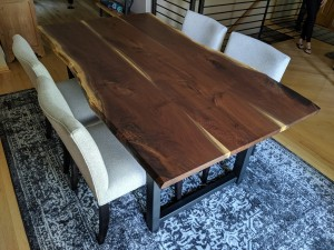 walnut live edge dining table 3 board minneapolis st. paul mn 3