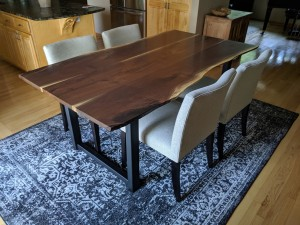 walnut live edge dining table 3 board minneapolis st. paul mn 6