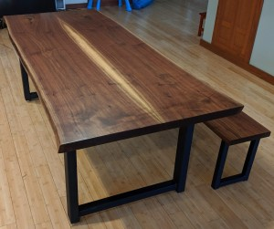 walnut live edge dining table and bench richfield mn 2 (1)