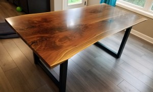 walnut live edge dining table custom table minnetonka mn