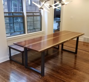 walnut live edge dining table edina minnesota furniture maker near me