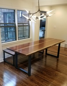 walnut live edge dining table minneapolis edina